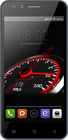 СМАРТФОН BQ BQS 4555 Turbo LTE Black