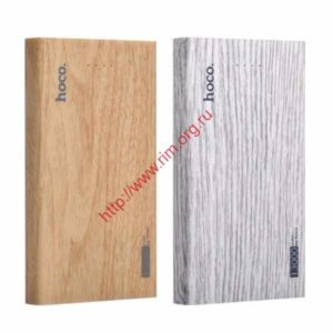 13000mA/h  Внешний аккумулятор powerbank HOCO Wood grain B12B 13000mAh Fir wood